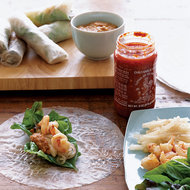 Food & Wine: Shrimp and Jicama Rolls with Chili-Peanut Sauce