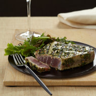 Food & Wine: Spice-Crusted Tuna Steaks with Cilantro and Basil