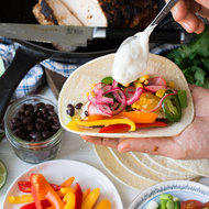 Food & Wine: Spicy Turkey and Veggie Tacos