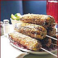 Food & Wine: Chile-Spiked Grilled Corn Rolled in Cotija Cheese