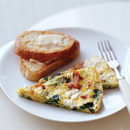 Food & Wine: Spinach and Goat Cheese Frittata