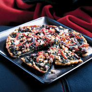 Food & Wine: Spinach and Olive Pizza