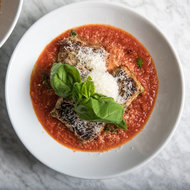 Food & Wine: Square Meatballs with Pomodoro Sauce
