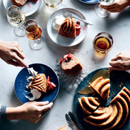 Food & Wine: Strawberry-Honey Cake with Sour Whipped Cream