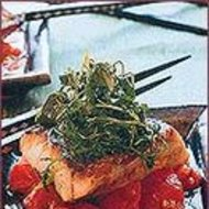 Food & Wine: Pan-Fried Striped Bass with Stir-Fried Tomatoes and Dill