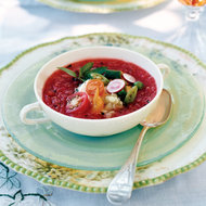 Food & Wine: Summer Tomato Soup with Herbed Goat Cheese