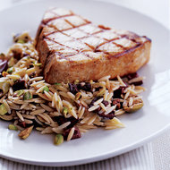 Food & Wine: Swordfish with Orzo, Pistachios and Olives