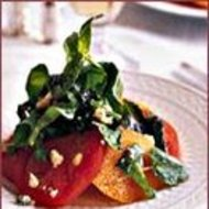 Food & Wine: Custer's Tomato Salad with Grilled Greens and Stilton