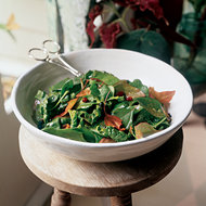 Food & Wine: Tropical Spinach Salad with Warm Fruit Vinaigrette