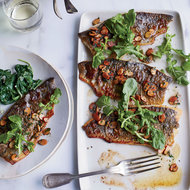 Food & Wine: Trout Amandine With Creamy Spinach