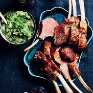 Food & Wine: Veal Roast with Green Mashed Potatoes