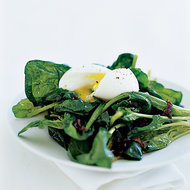 Food & Wine: Warm Spinach Salad with Soft-Poached Eggs