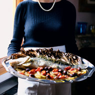 Food & Wine: Whole Roasted Sea Bass with Potatoes and Olives