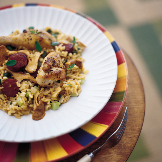 Summer Jambalaya with Chicken and Spicy Sausage