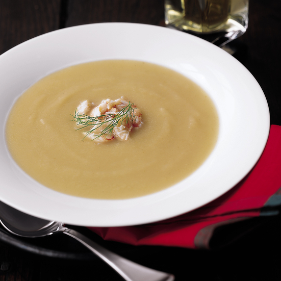 Silky Fennel Soup with Crabmeat