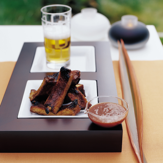 Cider-Basted Baby Back Ribs with Lemon Barbecue Sauce