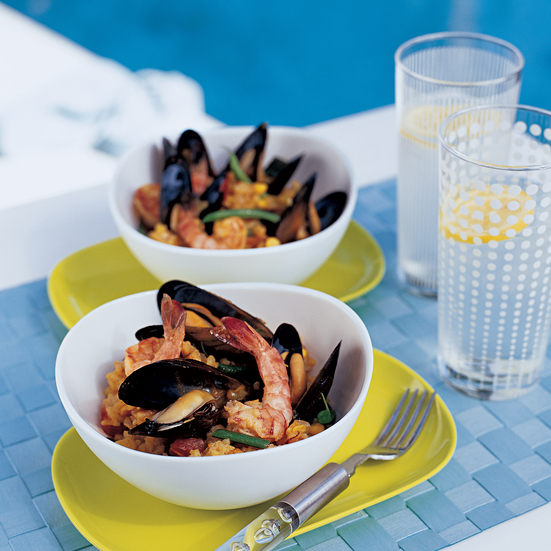 Grilled Seafood Paella