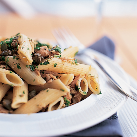Penne with Tuna and Capers