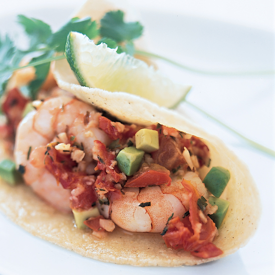 Garlicky Shrimp Tacos