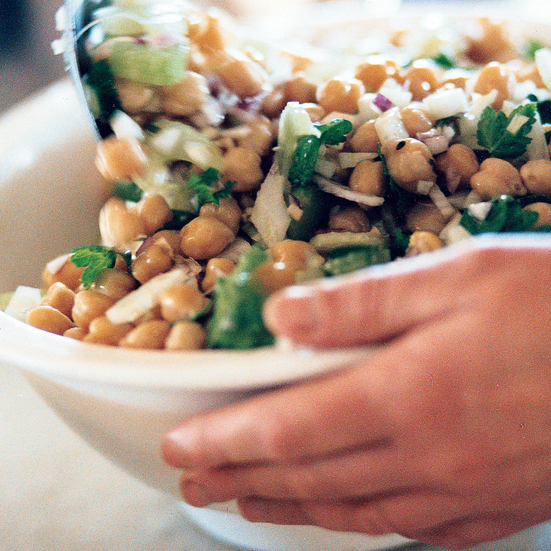 Warm Chickpea, Fennel and Parsley Salad