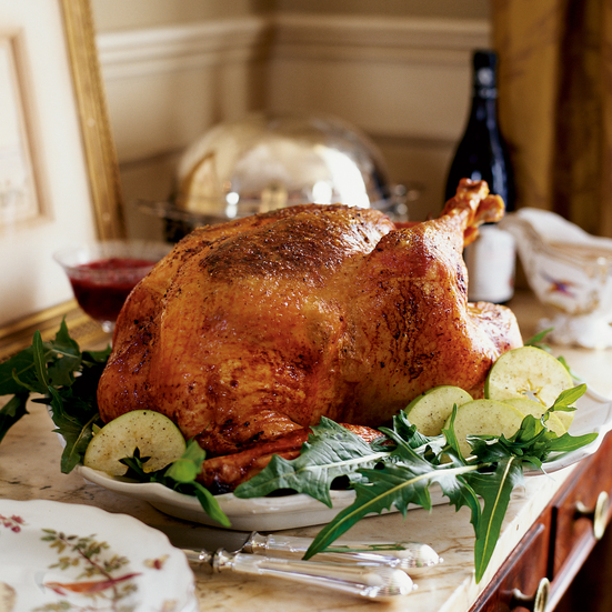 Bacon-Roasted Turkey with Sweet-Onion Gravy Recipe - Robert Stehling ...