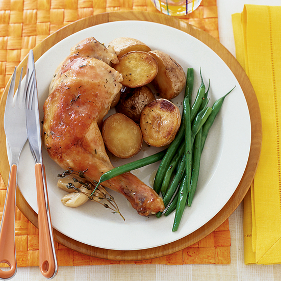 Chicken Braised with Lemon and Garlic
