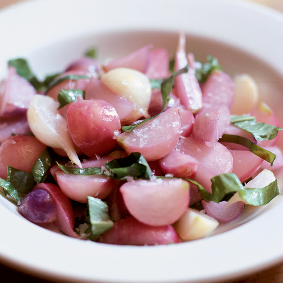 Butter-Braised Radishes with Sorrel