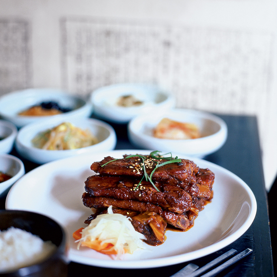 Spicy Korean Glazed Pork Ribs