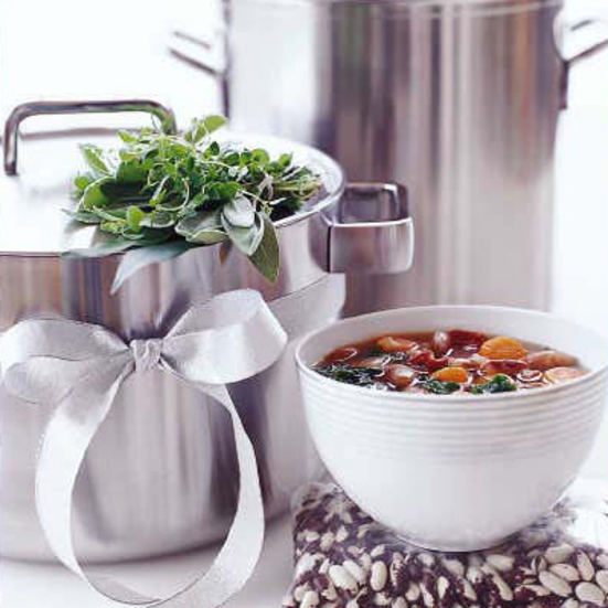Chunky Bean Soup with Ham and Kale