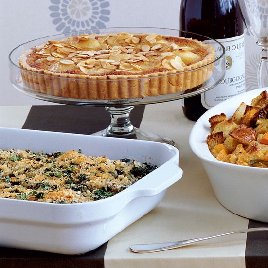 Swiss Chard Gratin with Toasted Bread Crumbs