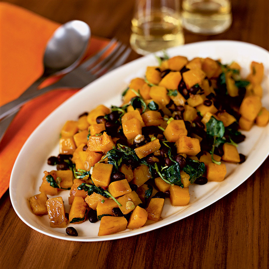 Chipotle-Spiked Winter Squash and Black Bean Salad