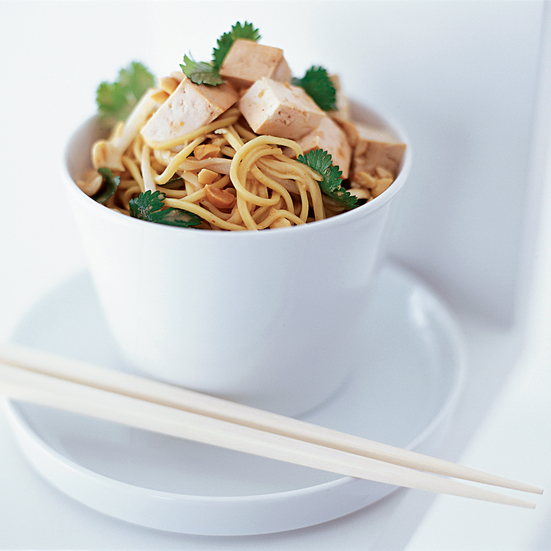 Cold Noodles with Tofu in Peanut Sauce