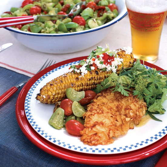 Grilled Corn with Chiles, Cheese and Lime