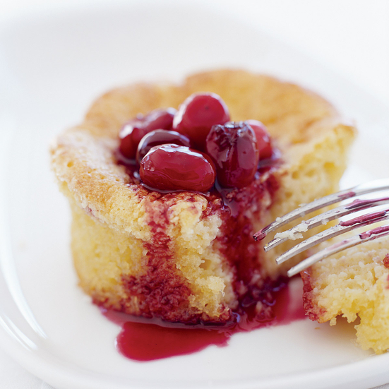 Corn Cakes and Spiced Cranberries