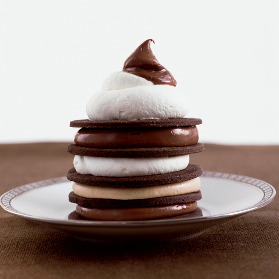 Chocolate Cookies 'n' Cream Towers