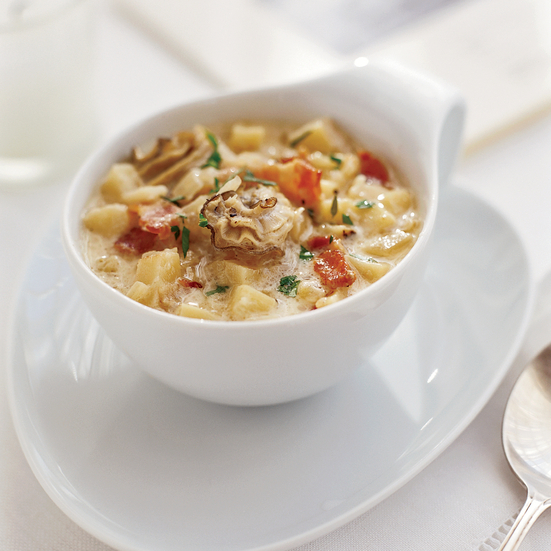 Light and Creamy Oyster Chowder with Salsify