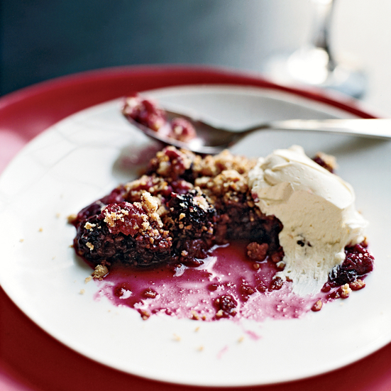 Oaty Mixed Berry Crumble