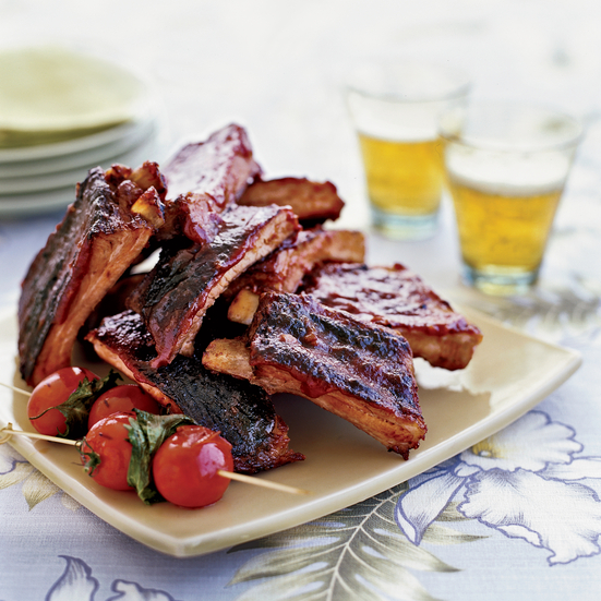 Chinese-Style Ribs with Guava Barbecue Sauce