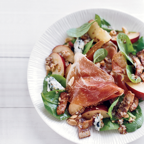 Spinach Salad with Bacon Vinaigrette