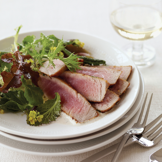 Crispy Tuna with Tuna-Caper Sauce