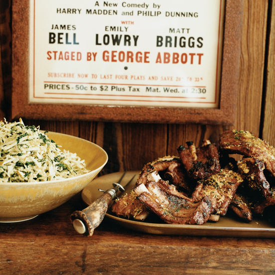 Missouri Baby Back Ribs with Apple Slaw