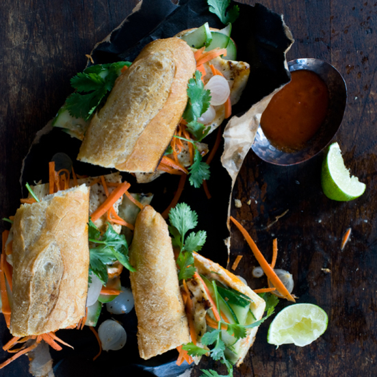 Spicy Vietnamese Chicken Sandwiches