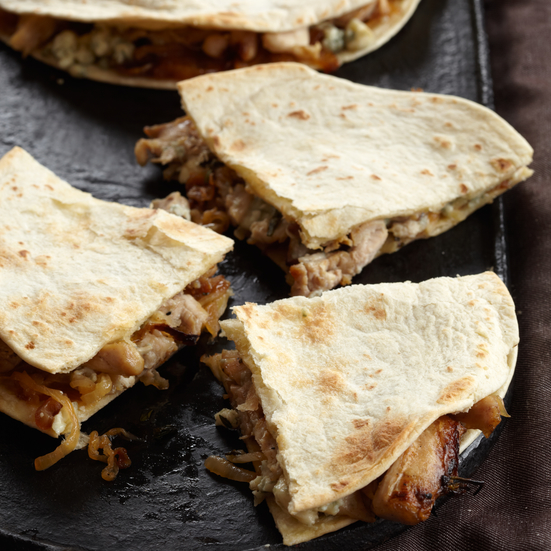 Chicken Quesadillas with Blue Cheese and Caramelized Onions Recipe ...