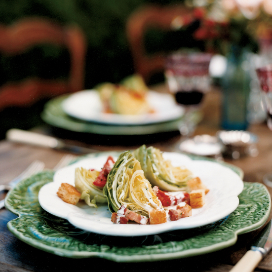 Iceberg Wedges with Bacon and Buttermilk Dressing