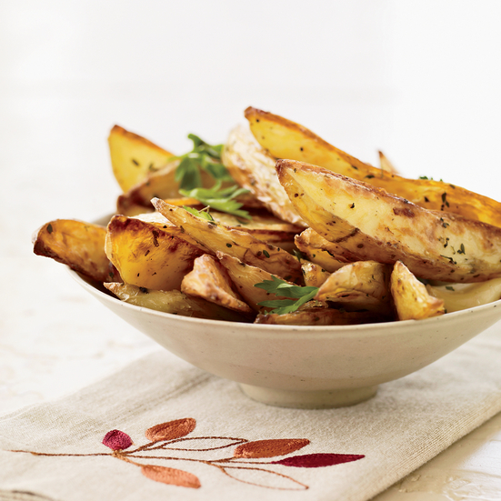 Oven Fries with Roasted Garlic