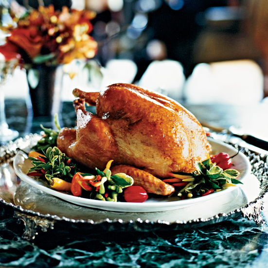 Roasted Turkey with Tangerine Glaze Recipe - Dean Fearing | Food ...