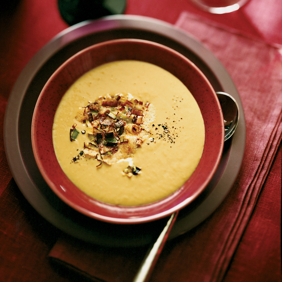 Silky Leek and Red Wine Soup