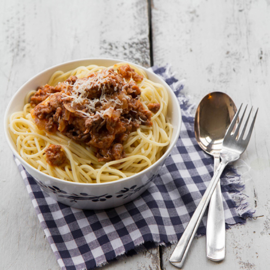 Spaghetti with Rich Meat Ragù