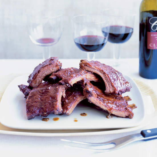 Spice-Roasted Ribs with Apricot Glaze