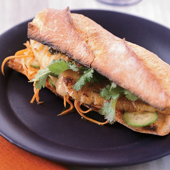 Sweet and Spicy Catfish Sandwiches